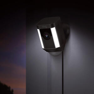 Ring  Hardwired  Outdoor  Black  Wi-Fi Security Camera