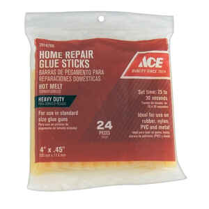 Ace  0.5 in. Dia. x 4 in. L Glue Sticks  Clear  24 pk