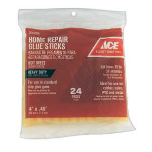 Ace  4  L x 0.5  Dia. Glue Sticks  Clear  24 pk