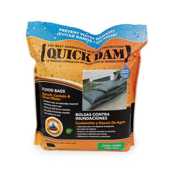Quick Dam  Flood Bags  3.5 in. H x 12 in. W x 24 in. L Sandless Sandbags  6 pk