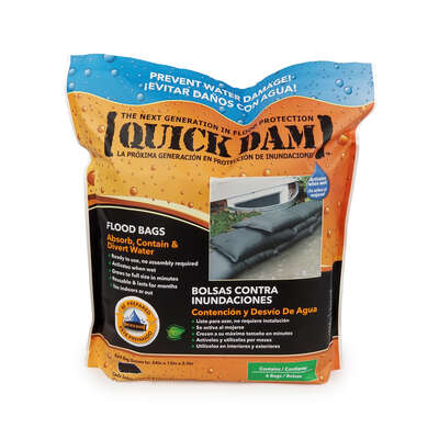Quick Dam  3.5 in. H x 24 in. L Sandless Sandbags  6 pk