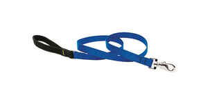 Lupine Pet  Basic Solids  Blue  Nylon  Dog  Leash