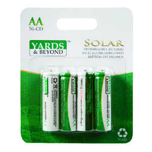 Living Accents Yards & Beyonds  Ni-Cad  AA  Solar Rechargeable Battery  BT-NC-AA-900-D4  4 pk