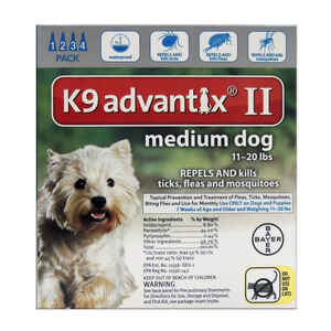 Bayer  K9 Advantix II  Liquid  Dog  Flea Drops  Imidacloprid/Pyriproxyfen  0.14 oz.