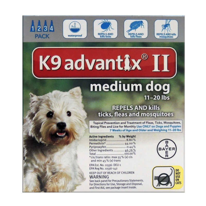 Bayer  K9 Advantix II  Liquid  Flea Drops  Imidacloprid/Pyriproxyfen  0.14 oz. Dog