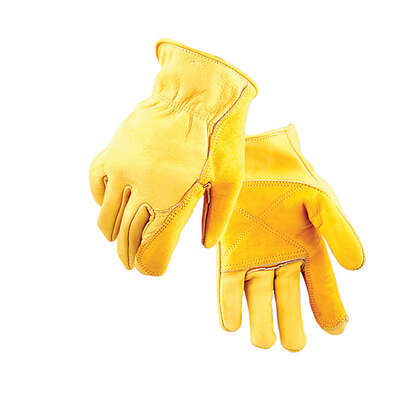 Golden Stag  L  Cowhide Leather  Driver  Gold  Gloves