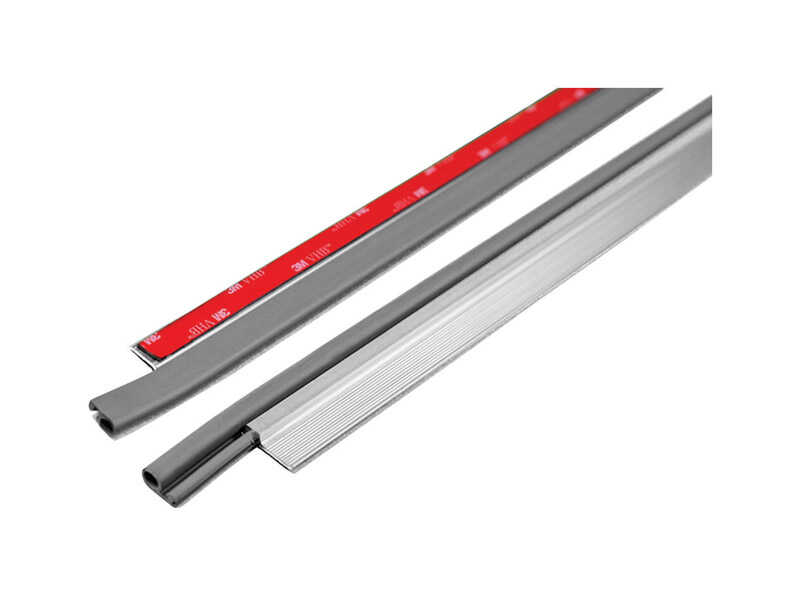 M-D Building Products  Silver  Aluminum  3-1/2 ft. L x 1/4 in.  For Door Bottom Weather Stripping