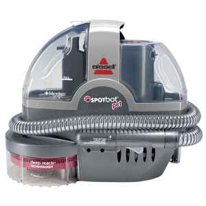 Bissell  Spotbot Pet  Bagless  Handheld Carpet Cleaner  3 amps Standard  Gray