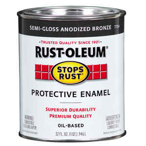 Rust-oleum  Anodized Bronze  Protective Enamel  Indoor and Outdoor  1 qt.