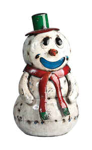 Think Outside  Snowman  Christmas Decoration  White  Metal  31.5  1 pk