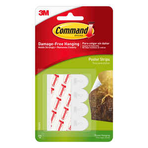 3M  Command  Small  Foam  Adhesive Strips  1-3/4 in. L 12 pk