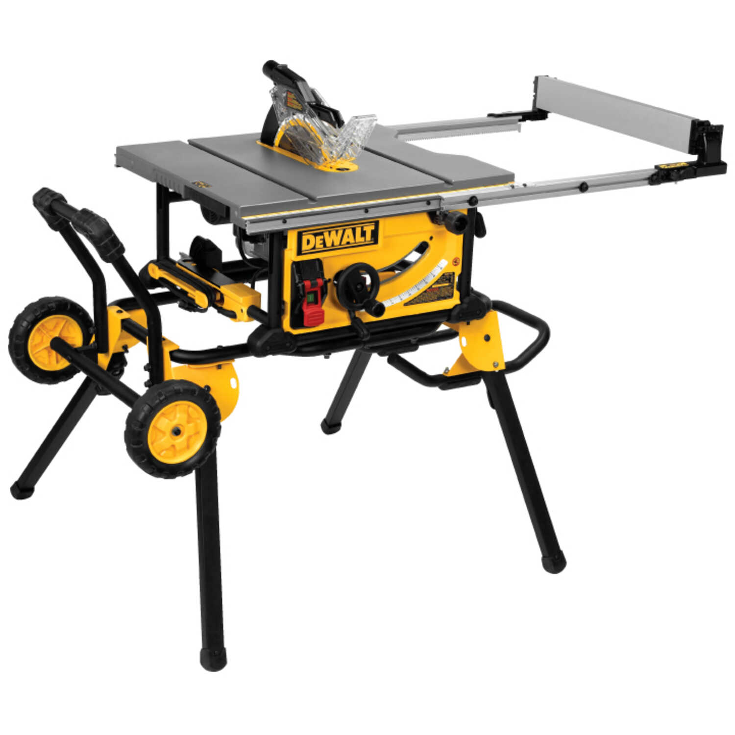 DeWalt  10 in. Corded  Table Saw with Stand  15 amps 4800 rpm