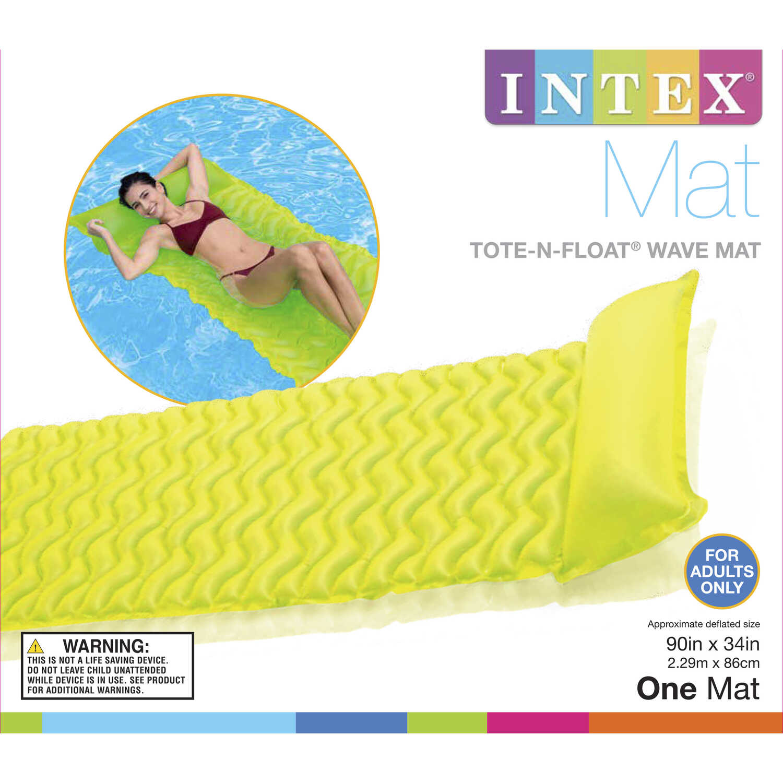 Intex Tote N Float Wave Mat Assorted Vinyl Inflatable