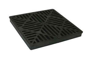 NDS  Black  Polyolefin  Square  Grate