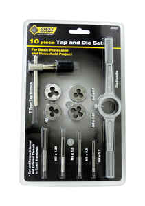 Steel Grip  Steel  Metric  Tap and Die Set  M8-1.25, M4-0.7, M6-1.0, M5-0.8  10 pc.