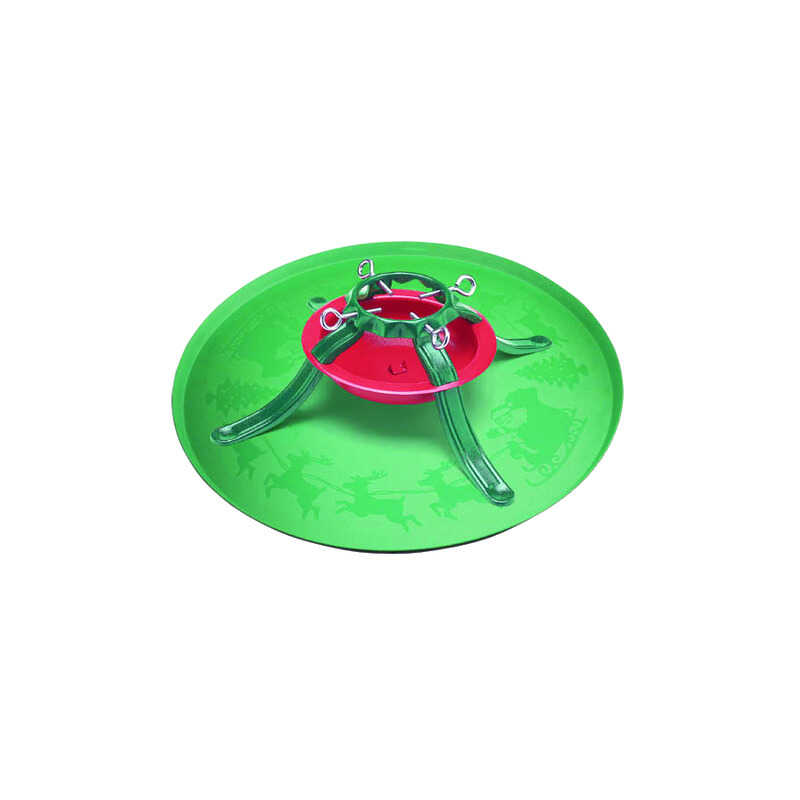 Jack-Post Plastic Green Christmas Tree Stand Tray 7 Ft