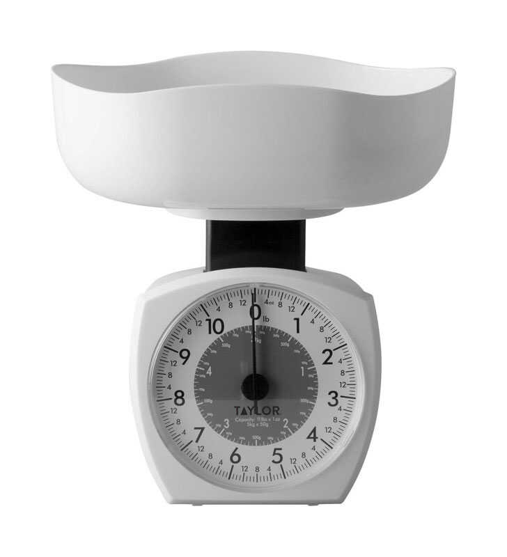 Taylor  Analog  Kitchen Scale  11 Weight Capacity White