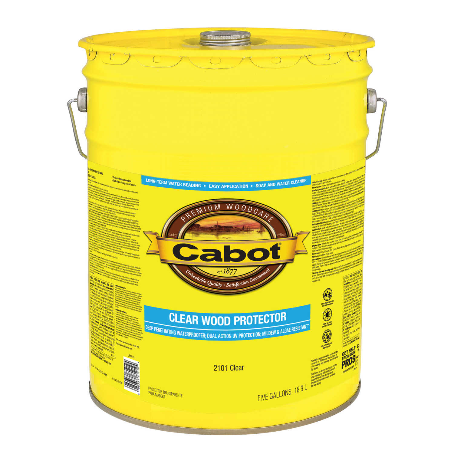 Cabot  Clear  Water-Based  Wood Protector  5 gal.