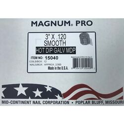 Magnum Pro 3 in. Angled Coil Nails 15 deg. Smooth Shank 2500 pk