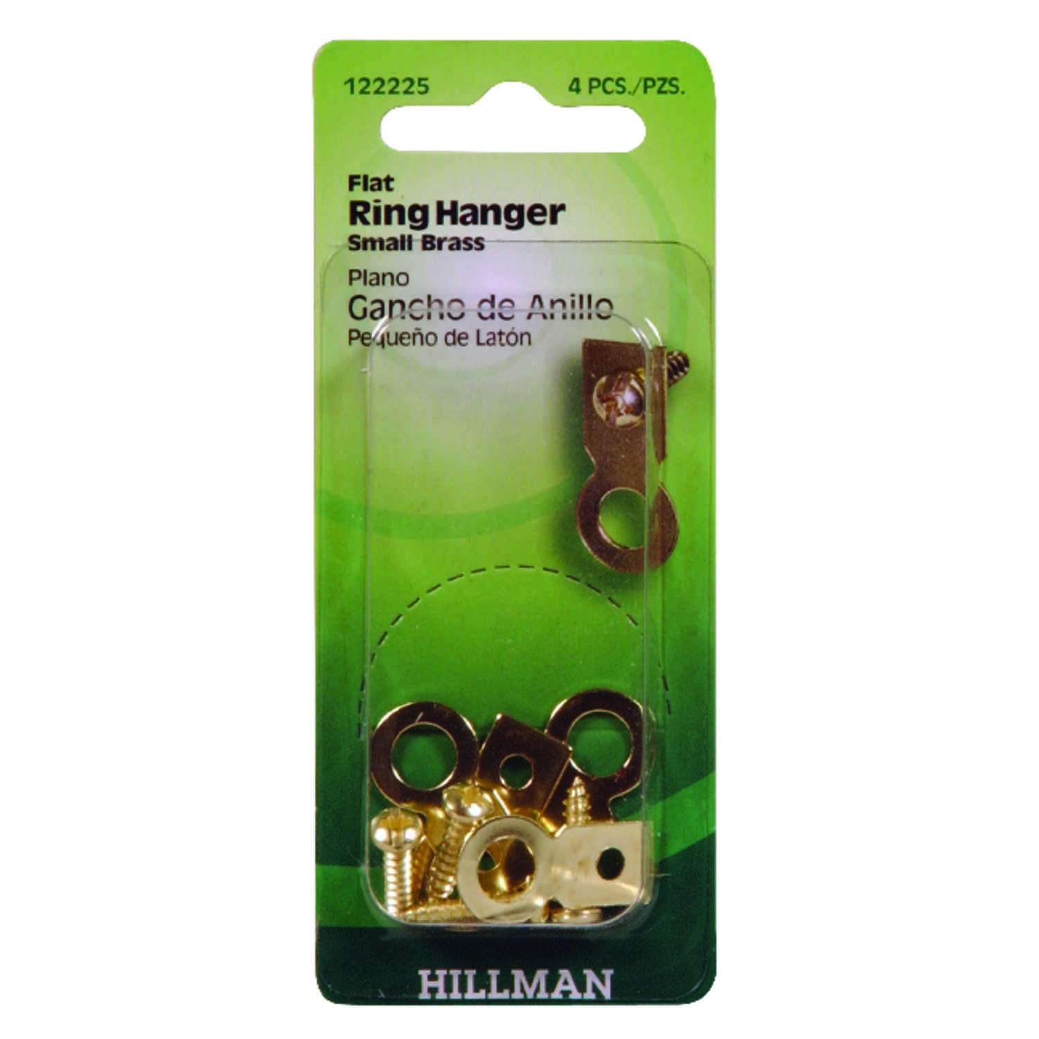 Hillman  AnchorWire  Brass-Plated  Steel  Ring Hanger  1 lb. 4 pk Small