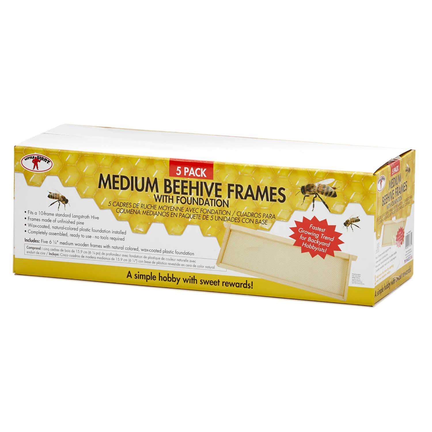 Little Giant  Medium  Beehive Frames