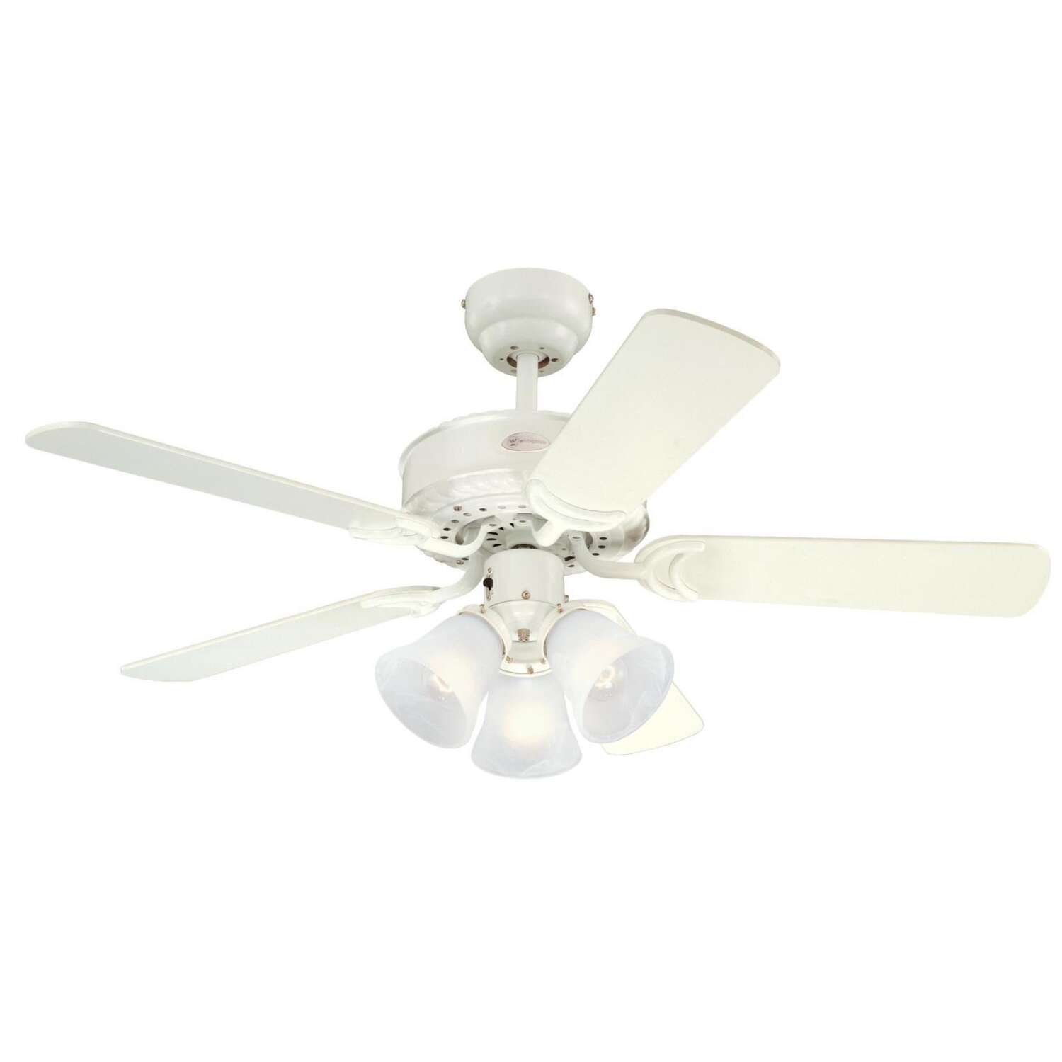 Westinghouse  Newtown  42 in. Antique White  Indoor  Ceiling Fan