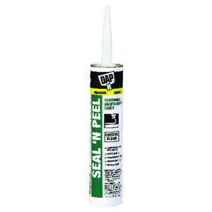 Dap  Seal 'N Peel  Elastomeric  Clear  Caulk  10.1 oz.
