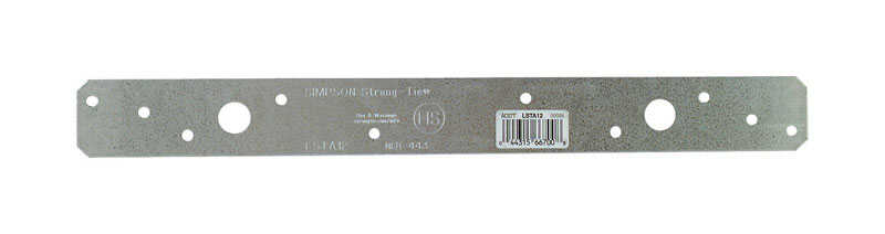 Simpson Strong-Tie  12 in. H x 1.25 in. W x 1-1/4 in. W 20 Ga. Strap  Galvanized Steel