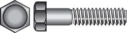 Hillman  1/4 in. Dia. x 1/2 in. L Zinc Plated  Steel  Hex Bolt  100 pk