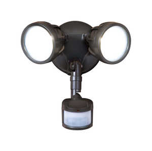All-Pro  Motion-Sensing  Hardwired  Bronze  Security Light  Metal