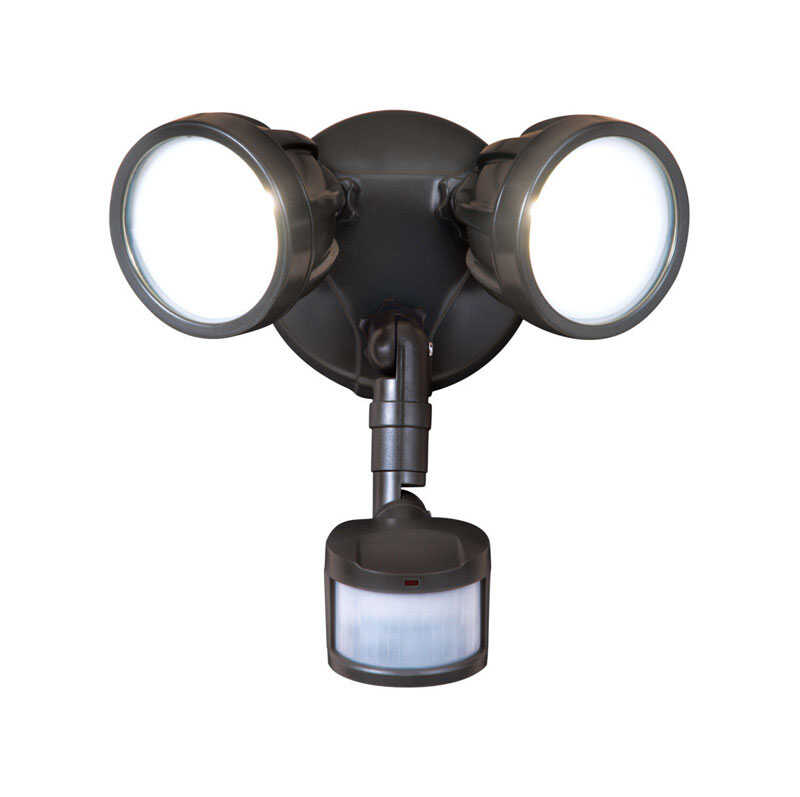 All-Pro  Motion-Sensing  Hardwired  LED  Bronze  Security Light