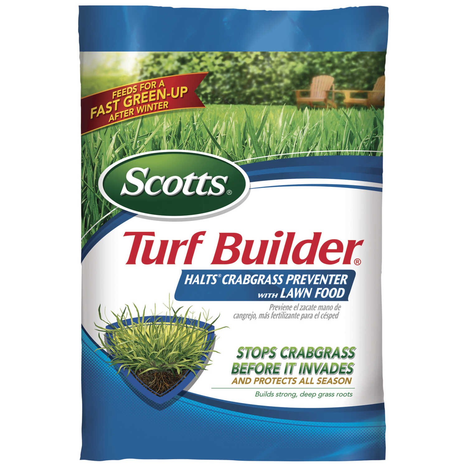 Scotts  Turf Builder  30-0-4  Crabgrass Preventer with Fertilizer  For All Grass Types 13.35 lb. 500