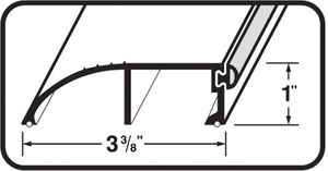 M-D Building Products  3-3/8 in. W x 72 in. L Mill  Aluminum  High Bumper Threshold