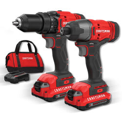 Craftsman  20V MAX  Cordless  2 tool Drill/Driver and Impact Driver Combo Kit  20 volt 2 amps