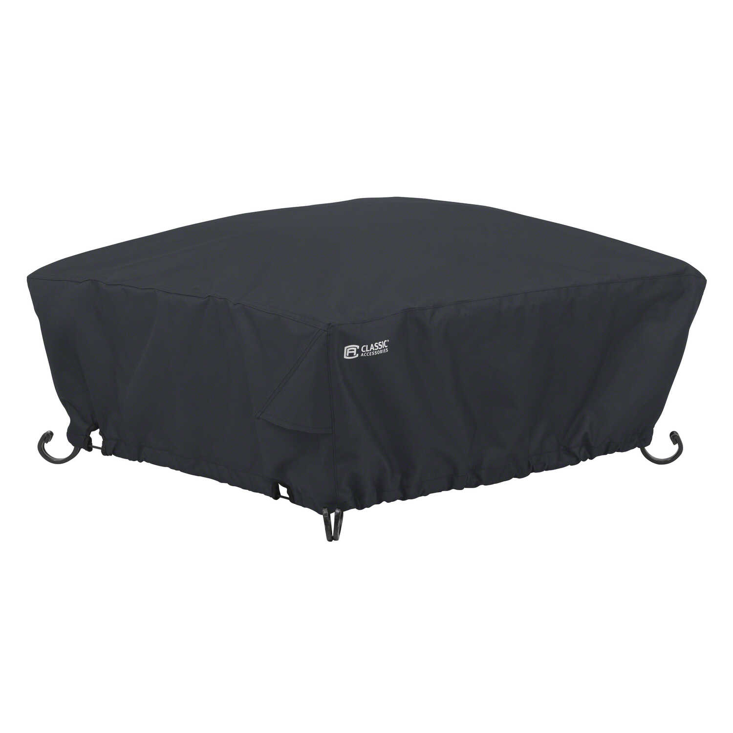 Classic Accessories  12 in. H x 36 in. W x 36 in. L Black  Polyester  Fire Pit Cover