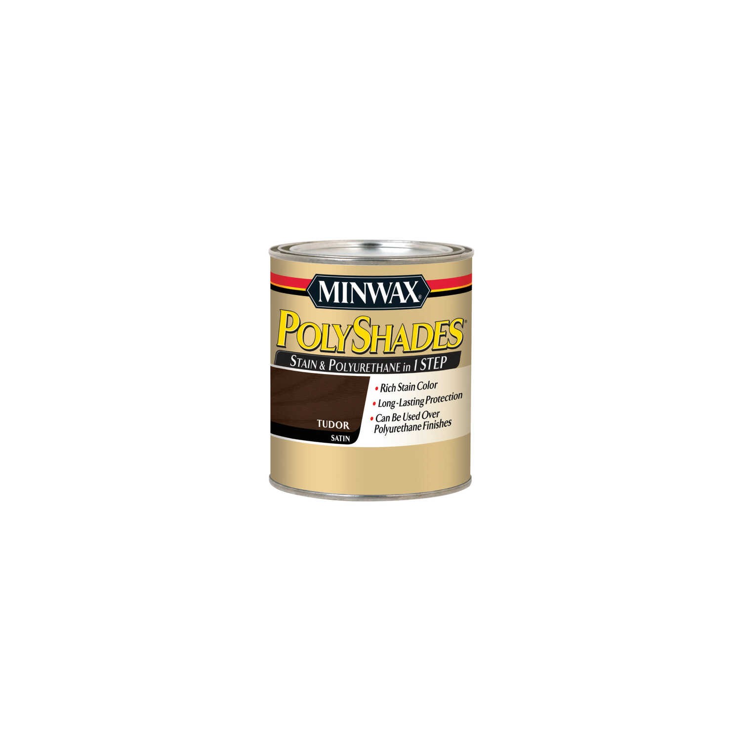 Minwax  PolyShades  Semi-Transparent  Satin  Tudor  Oil-Based  Stain  0.5 pt.