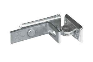 Master Lock  Zinc-Plated  Hardened Steel  4-3/4 in. L Angle Bar Hasp