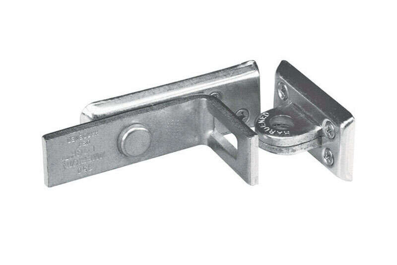 Master Lock  Zinc-Plated  Hardened Steel  4-3/4 in. L Angle Bar Hasp  1