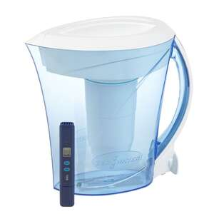 ZeroWater  Blue/White  8 cups Blue  Water Filtration Pitcher
