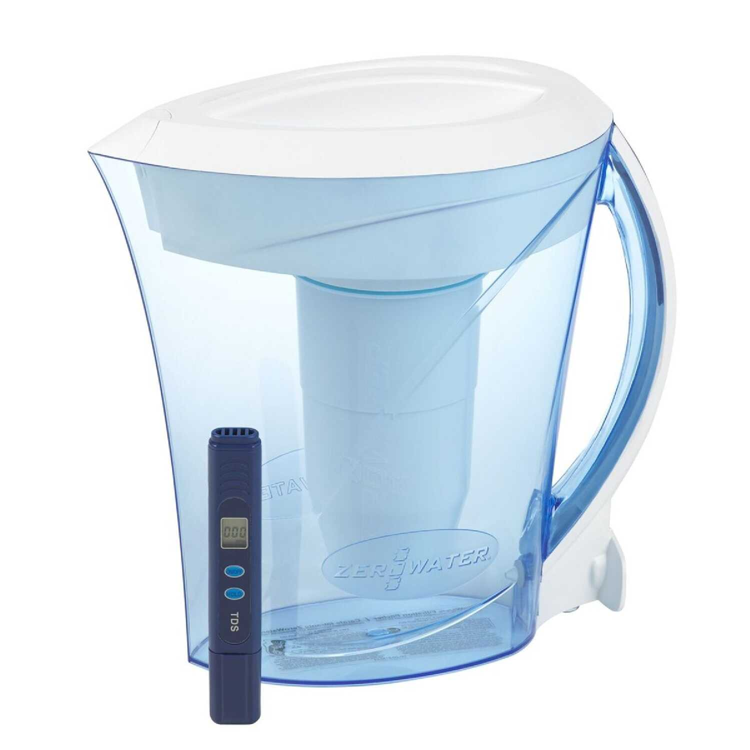 ZeroWater  64 oz. Blue  Water Filtration Pitcher