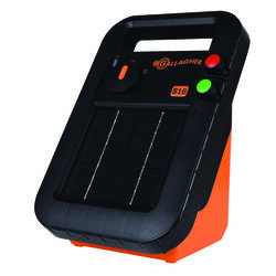 Gallagher  S16  6 volt Solar  Fence Energizer  10 mi. Black/Orange
