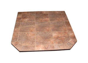 By The Fire  Topaz  Porcelain  Hearth Pad