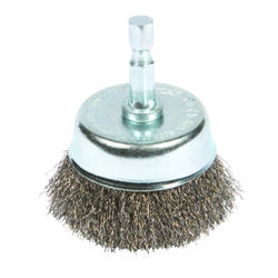 Forney  3 in. Dia. x 1/4 in.  Fine  Steel  Crimped Wire Cup Brush  6000 rpm 1 pc.