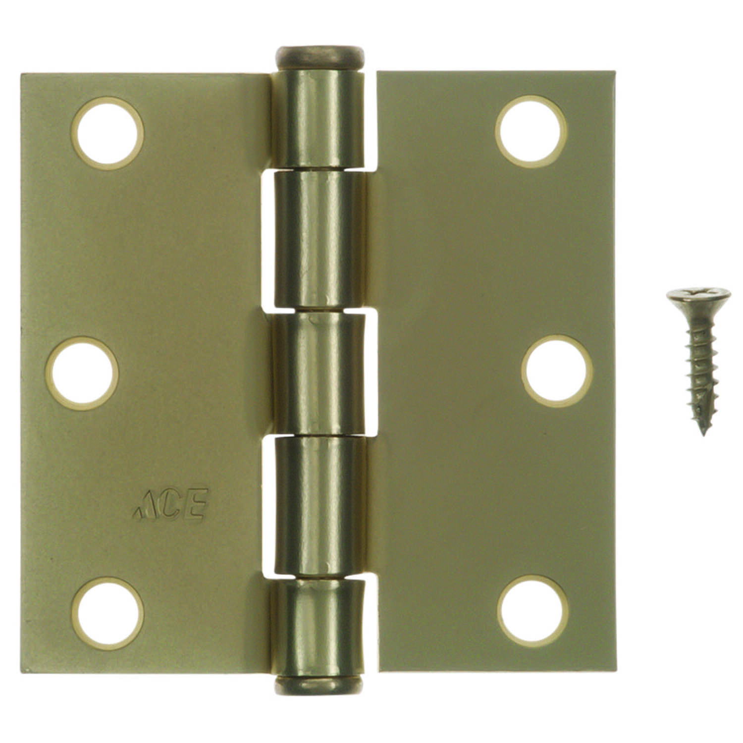 Ace  3 in. L Satin Brass  Residential Door Hinge  3 pk