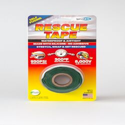 Rescue Tape  Green  12 ft. L x 1 in. W Silicone Tape  6
