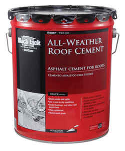 Black Jack  Gloss  Black  Patching Cement  All-Weather Roof Cement  5 gal.