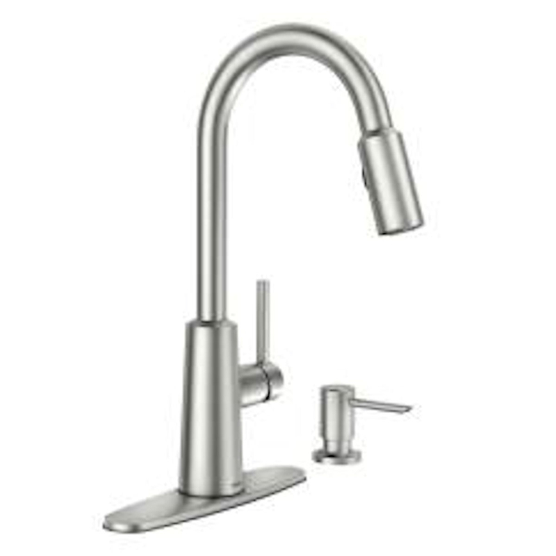 Moen Nori One Handle Stainless Steel Pulldown Kitchen Faucet   Ace Hardware