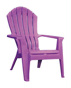 Adams  RealComfort  Violet  Polypropylene  Adirondack Chair