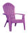 Adams  RealComfort  1 pc. Bright Violet  Polypropylene Frame Adirondack Chair