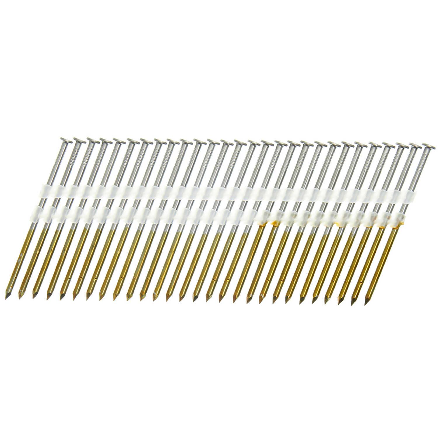 Senco 20 16 Ga. Smooth Shank Angled Strip Framing Nails 3-1/4 in. L ...